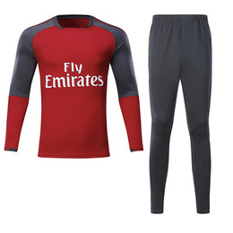 7373b3e1f 17 18 LACAZETTE Tracksuits Alexis Sanchez OZIL Soccer jerseys 2017 2018 camisetas  Football Soccer Suits Round neck Training Wear