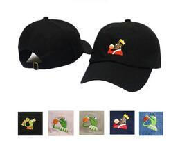 bd525f7fc12b7 wholesale Frog Tea Kermit None Of My business Dad Hat Lebron James Casquette  kanye west Big Daddy hat Men Women Girl s Baseball cap