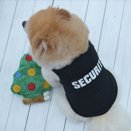cheap cat shirts 2019 - Cat Dog Clothes Vest Summer Security Shirt Animal Costume Dog Suit Pet Puppy clothing Cotton 2016 Cheap Price
