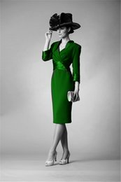 $enCountryForm.capitalKeyWord NZ - 2017 new free shipping plus size custommade vestido de madrinha long sleeves green Mother of the Bride Dresses with jacket