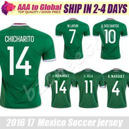 851a349f7 ... 14 HERNANDEZ Mexico Jersey 2016 Copa America Mexico Soccer Jersey 2017  Green football shirt CHICHARITO Camisetas de futbol 2017 Mexico National  Team ...
