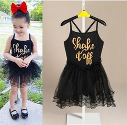 919b5b8d85 Rock Roll dResses online shopping - Baby girls ballet dress romper infants  letters print tutu dress