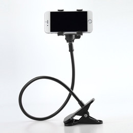 Discount lazy arm phone holder - Wholesale-360 Rotating Flexible Long Arm Cell phone holder with clip hands-free phone holder Stand Lazy Bed Desktop for
