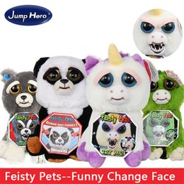 $enCountryForm.capitalKeyWord NZ - 100% Original Jump Hero Feisty Funny Expression Pets Plush Toy 20 Type Feisty Pets Funny Change Face Kids Cute Prank Toy Best Gift