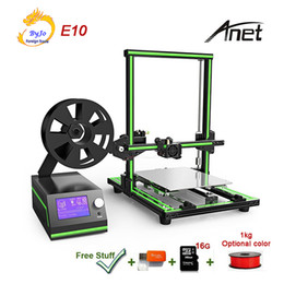 $enCountryForm.capitalKeyWord NZ - Pro Anet E10 Aluminum Frame 3D Printer High-Precision Large Printing Size With LCD Screen Support TF Card Off-line Printing Windows Mac