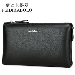 Chinese  FEIDIKABOLO Top Quality Men Wallets Luxury Black Leather Purse Long Dollar Price Male Carteira Masculina Clutch Wallet Handy Bag manufacturers