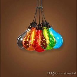 2016 New Modern Glass Pendant Light Multiple Color Restaurant Creative Bubble Lamp For Bar Home Decoration Lighting Dining Room
