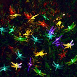 solar lights for christmas trees 2019 - Solar outdoor LED String lights Waterproof 6m 30 LED Christmas Solar String Lights 8 Modes Dragonfly Fairy Garden Light