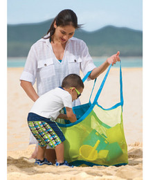 sea bags tote Canada - Children Beach Mesh Bags Wholesale Sand Away Collection Toy Bag Storage Sea Shell Kids Sandbeach Tote Organizer Helper