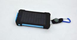 Ingrosso 20000mAh universale 2 porta USB caricabatterie solare di energia solare caricabatterie esterno con scatola al minuto per iPhone caricatore Samsung cellPhone