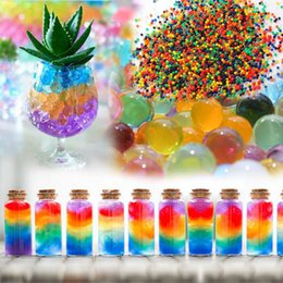 Magic Pearl Jelly Water Australia - Wholesale- 1200 Pcs Crystal Mud Water Beads Pearl Big Bubble Beads Soil Water Beads Hydrogel Ball Grow Magic Jelly Balls Home Decoration