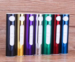 Wholesale 100PCS Blister Card USB Cigarette Lighter Electronic USB Rechargeable Battery Lighter Flameless Cigar DHL Fedex