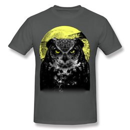 $enCountryForm.capitalKeyWord Canada - Full Moon Awesome T Shirts For Men creative style Spectacular owl print T shirt for men Print Your Own T Shirt.