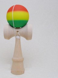 Ball For Game Canada - Striped Rubber Elastic Frosted Sword Kendama Ball Professional Wooden Toy Skillful Jling Ball Game Toy For Children Outdoor recreation