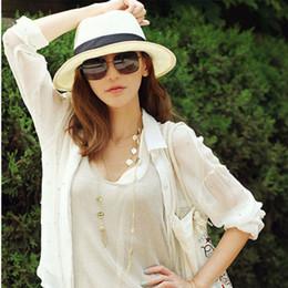 $enCountryForm.capitalKeyWord NZ - Wholesale- Retail Wholesales Chic Women's Summer Beach Trilby Straw Wide Brim Beach Cap Sun Hat
