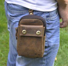 Handmade Leather Bags Wholesale Canada - KISSUN Factory Crazy Horse Leather  Clip Waist Bag Fanny Bag 766b4e630e78
