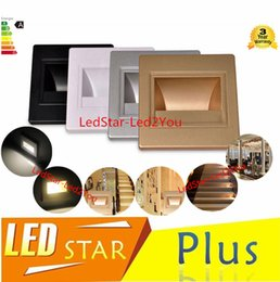 Discount indoor step lights - New Lamps Arandela 5pcs lot Modern 100-240v 1.5w Recessed Led Stair Light Wall Lights In Step Lamp Indoor Free Shipping