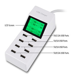 Power Socket Eu Australia - new 8Port Portable SMART USB Hub Wall Charger AC Power Adapter EU Plug Slots Charging Extension Socket Outlet With Switcher wholesale