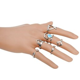 $enCountryForm.capitalKeyWord Canada - Fashion accessories jewelry New finger ring set gift for women girl wholesale 1set