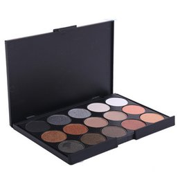 Makeup Eyeshadow Naked Palette UK - 15 color Natural smoky makeup eyeshadow palette, Makeup multi colored wholesale cheap naked 15 color colors eyeshadow palettes