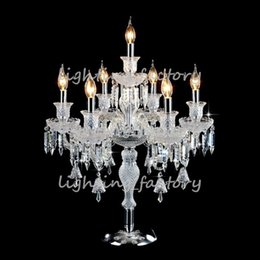 led wedding candelabras UK - candelabra table lamp crystal table lamp bedside wedding table candelabra led desk lamps can fabric cover