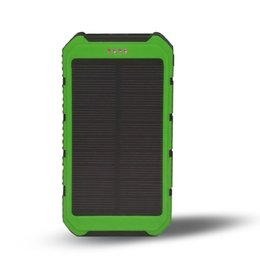 Solar Powered Laptops Canada - New Solar Power Bank Solar Charger Panel Shockproof mobile solar phone charger with dual usb ports Flashlight for CellPhone Laptop