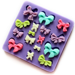 mini molds Canada - Mini Bowknot fondant silicone mold chocolate mould candy resin molds silicone mould fondant cake decorating tools TY1797