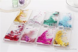 $enCountryForm.capitalKeyWord UK - Glitter Love Running Quicksand Liquid Dynamic Hard Case clear transparent shining Cover For iPhone 5c 6s plus galaxy s6 s7 edge plus note5