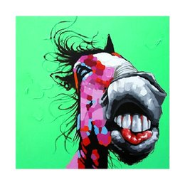 $enCountryForm.capitalKeyWord NZ - Hand painted top quality decorative designer home deocr funny donkey animal oil painting large canvas art cheap