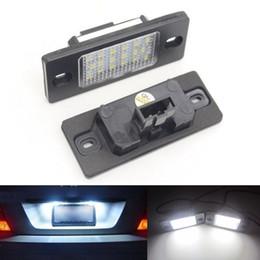 Vw Golf Light Bulbs Canada - 2x 18 LED Error Free Car License Number Plate Light Car Lamp Bulb For Porsche Cayenne VW Touareg Tiguan Golf 5 5D touring Passt