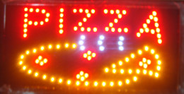 animated signs Canada - Ultra Bright LED Neon Light Animated Led Pizza Sign billboard size 19x10 inch Plastic PVC frame Display