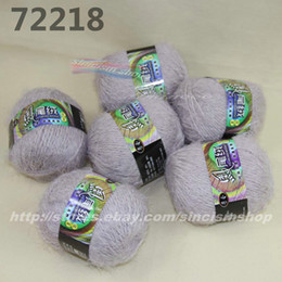 weaving eyelashes NZ - Color optional 6x50gr skeins soft Eyelash hand-woven Knitting Yarn grey 722-18