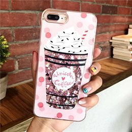 $enCountryForm.capitalKeyWord NZ - Drink Bottle Quicksand Phone Cases For iPhone 7 7 Plus 6 6S Plus Ice Cream Heart Glitter Star Dynamic Liquid Back Cover