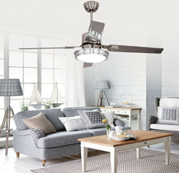 $enCountryForm.capitalKeyWord Canada - LED ceiling fan lights restaurant bedrooms modern fan lamps ceiling fans remote control simple fashion stainless iron leaves