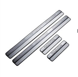 Door Sill Plate For Nissan UK - Stainless Steel Exterior Scuff Plate Door Sills for 2014- 2016 Nissan Qashqai Welcome Pedal Threshold Strip Car Styling Accessories 4 pcs