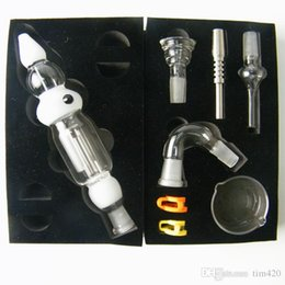 glass bongs parts 2019 - All Glass Nectar Collectors 2.0 Full Kit oil rigs glass bongs nectar Collector 14mm Joint Black White Color W  8 parts F