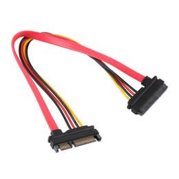 """SATA ATA Y Splitter Cable Adapter 7 3//4 /"""" M//F 15 Pin /& 7 Pin SATA to SATA Serial"""