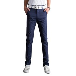 Hommes Taille Mince 34 Pas Cher-Gros-Nouvelle Collection 2016 Mode Hommes droites Skinny Chinos Pantalon cargo Mens Casual Harajuku Slim Pantalons Plus Size 28-34 13M0552