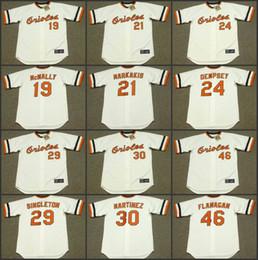 544304d38 ... MLB Jersey Men 19 DAVE McNALLY 21 NICK MARKAKIS 24 RICK DEMPSEY 29 KEN  SINGLETON 30 DENNIS MARTINEZ Baltimore Orioles ...