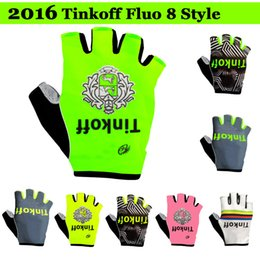 online shopping 2016 Tinkoff Saxo Bank cycling gloves fluo style bicycle Bike Half Finger gloves fitness riding bikel Bicycle Sports Half Finger Glove