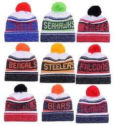 Wholesale Sports Team Hats Canada - 2016 New Beanies American Football 32 team Sports beanie for men Knitted winter Hats drop shippping Snapbacks Hats album offered B13