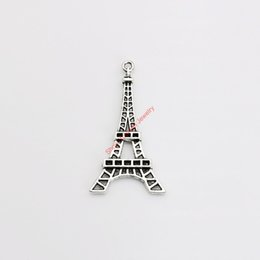 Wholesale 10pcs Tibetan Silver Plated Eiffel Tower Charms Pendants for Jewelry Making DIY Handmade Craft x24mm