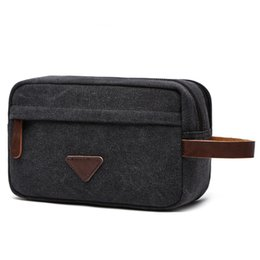 China Portable Man Travel Wash Bag Canvas Cosmetic Bags Men 'S Bath Make Up Toiletry Bag Zipper Women Makeup Organizer Necessaries Case cheap man s bag canvas suppliers
