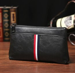 online shopping The factory direct selling brand bag Korean fashion color leather men hand bag casual mens sportswear men s wallet hand bag