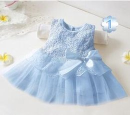$enCountryForm.capitalKeyWord Canada - 2016 Summer Mesh dresses Cute girl dresses Sleeveless Bow Dress for Baby Girls wedding dress elegant girl big bow party pricess dress