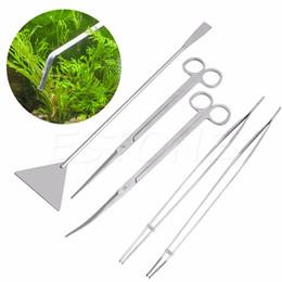 3pcs / 5шт Аквариум ножницы для чистки пинцет инструменты для обслуживания комплект для живых растений травы