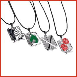 $enCountryForm.capitalKeyWord Canada - Attack on Titan Shingeki no Kyojin Scout Regiment Wings of Liberty bagge pendant necklace anime jewelry for men women Drop Shipping