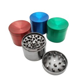 China Beautiful 50mm 4 layer metal grinder with Zicn alloy cnc teeth tobacco grinder for smoking water pipes colorful grinders Fast delivery suppliers