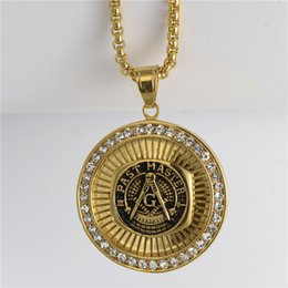 $enCountryForm.capitalKeyWord Canada - 2016 New stainless steel men's freemason signet past master masonic symbol emblem pendant necklace jewelry