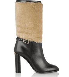 $enCountryForm.capitalKeyWord UK - winter boots women thick heels women shoes round toe for leather knee hight boots with fur classics buckle strap hight heel pump